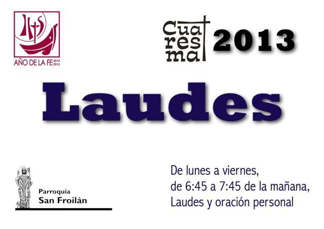 Laudes Cuaresma 2013