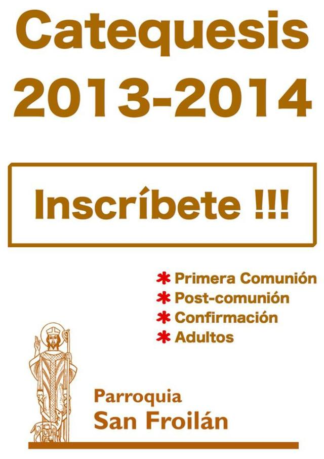 INSCRIPCION CATEQUESIS