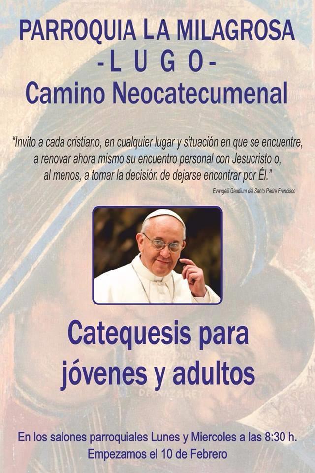 Cartel Catequesis Camino 2014