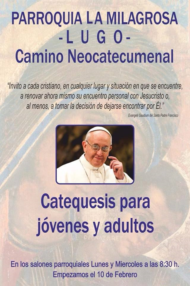 Cartel Catequesis Camino 2014