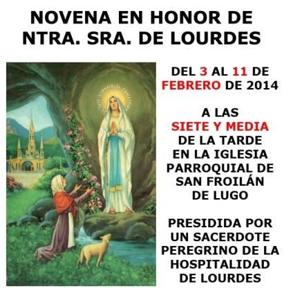 Novena Virgen de Lourdes