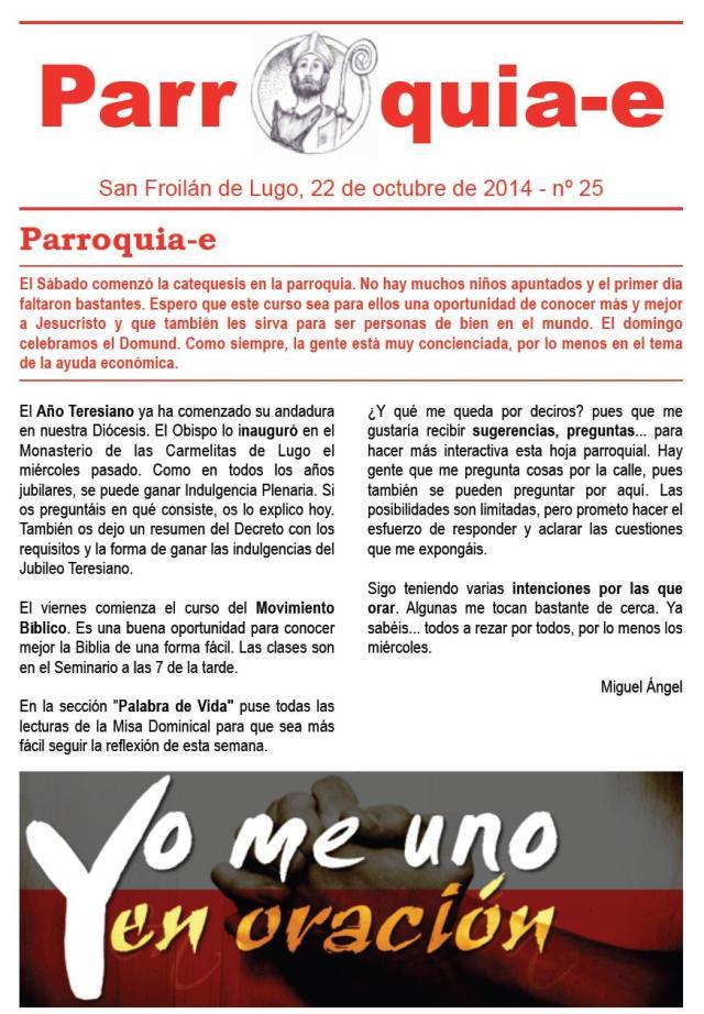 P@rroquia-e nº 25