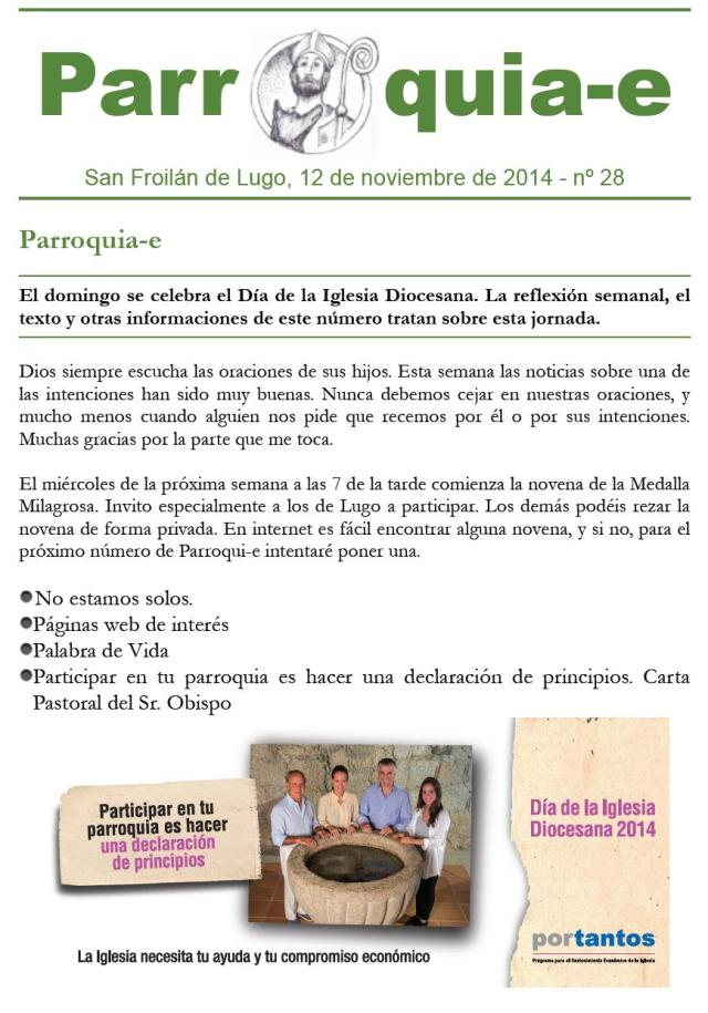 P@rroquia-e nº 28