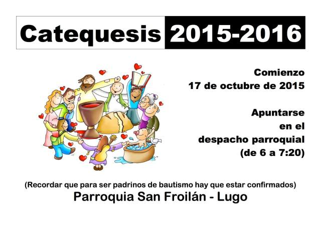 Catequesis San Froilán 2015