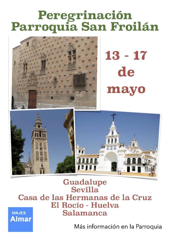 Cartel peregrinación a Sevilla